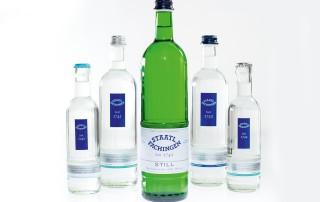 خط آب معدنی شیشه
